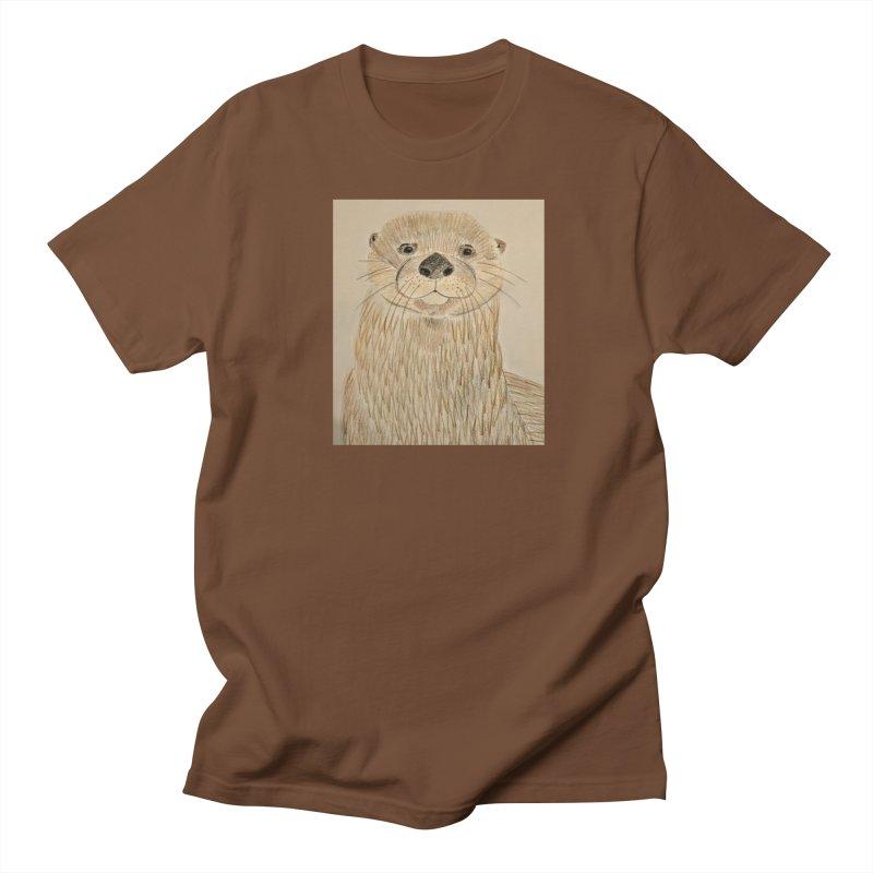 Otter Men's T-Shirt by Whimsical Wildlife Wares