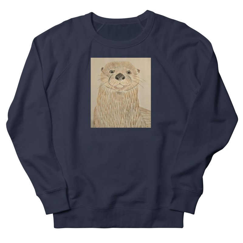 Otter Women's Sweatshirt by Whimsical Wildlife Wares