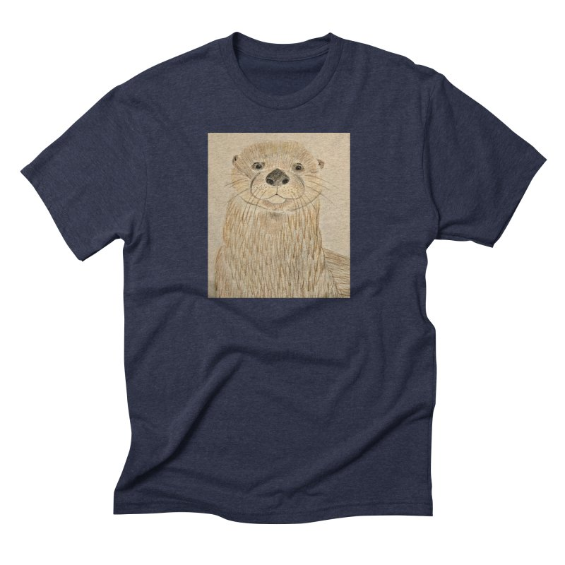 Otter Men's Triblend T-Shirt by Whimsical Wildlife Wares