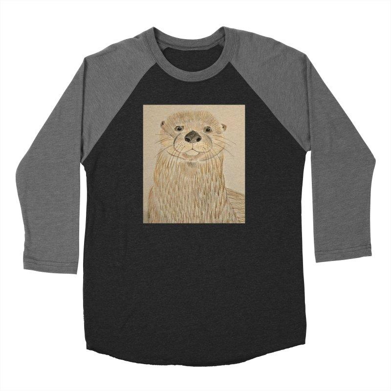 Otter Women's Baseball Triblend T-Shirt by Whimsical Wildlife Wares