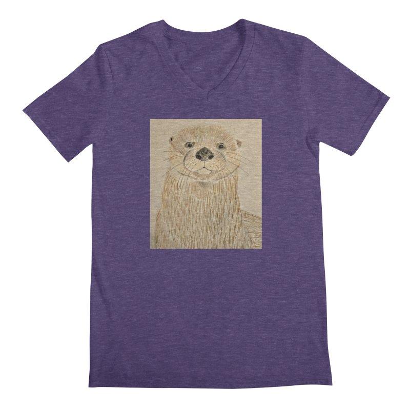 Otter Men's V-Neck by Whimsical Wildlife Wares