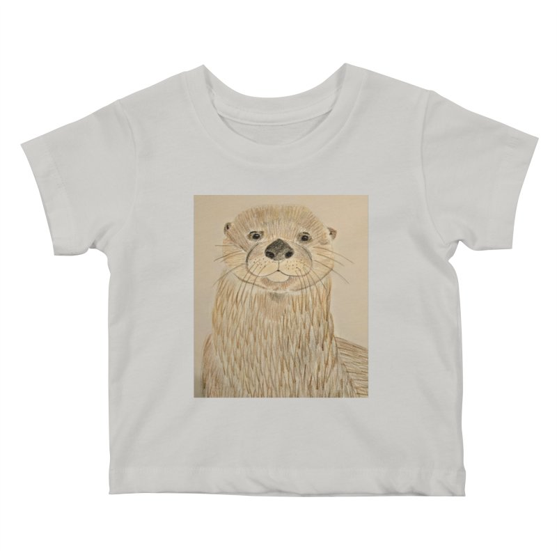 Otter Kids Baby T-Shirt by Whimsical Wildlife Wares