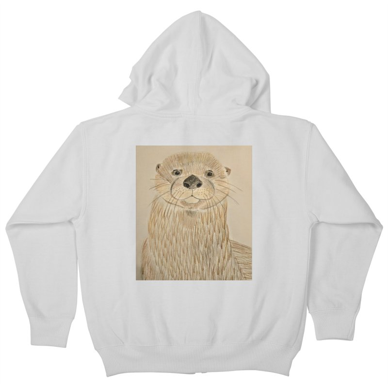 Otter Kids Zip-Up Hoody by Whimsical Wildlife Wares