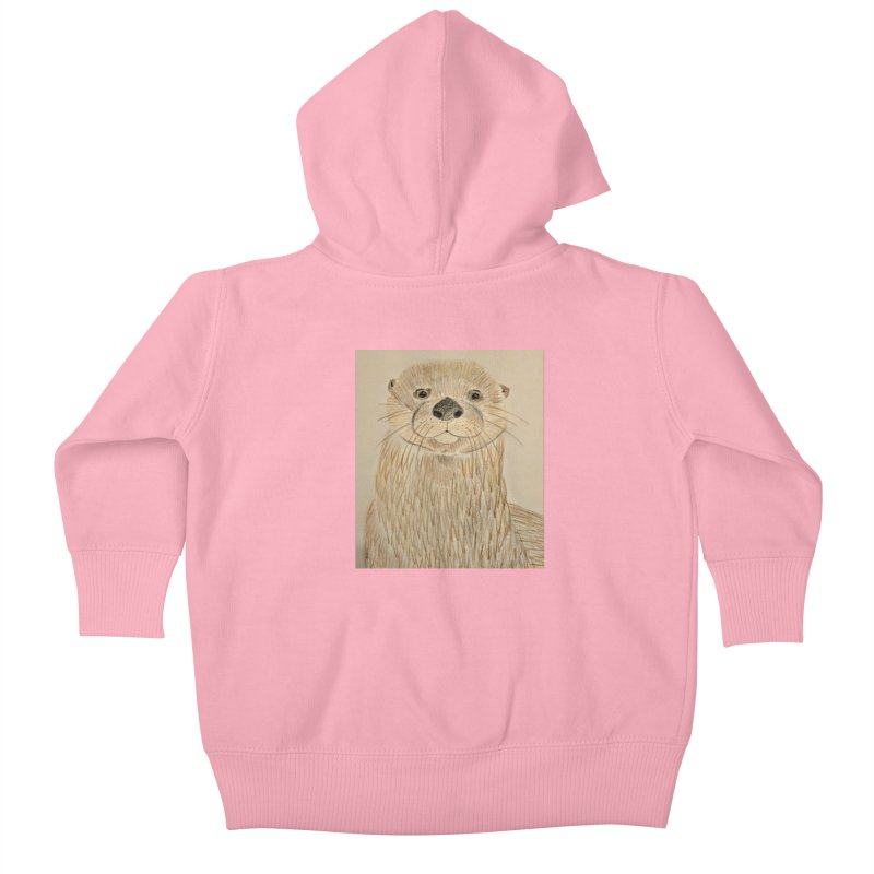 Otter Kids Baby Zip-Up Hoody by Whimsical Wildlife Wares