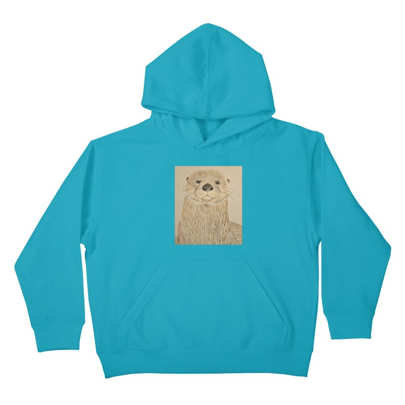 Otter Kids Pullover Hoody by Whimsical Wildlife Wares