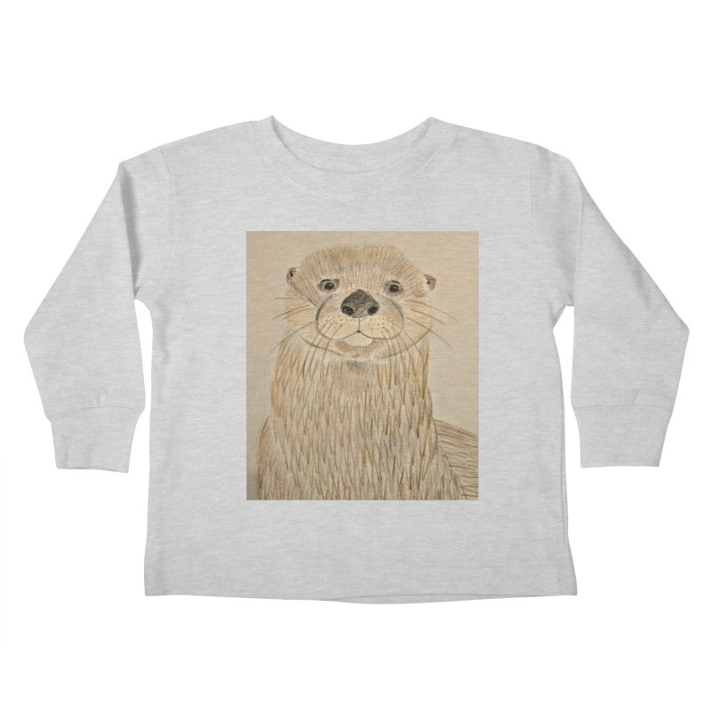 Otter Kids Toddler Longsleeve T-Shirt by Whimsical Wildlife Wares