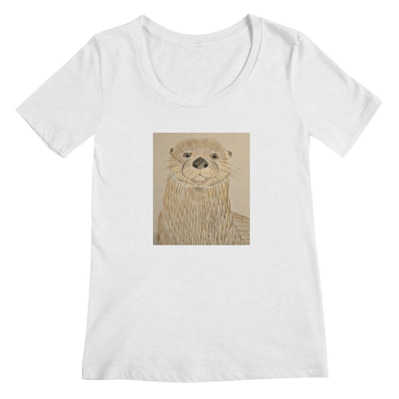 Otter Women's Scoopneck by Whimsical Wildlife Wares