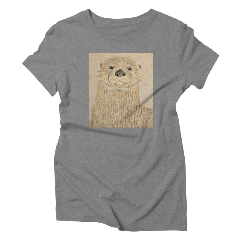 Otter Women's Triblend T-Shirt by Whimsical Wildlife Wares
