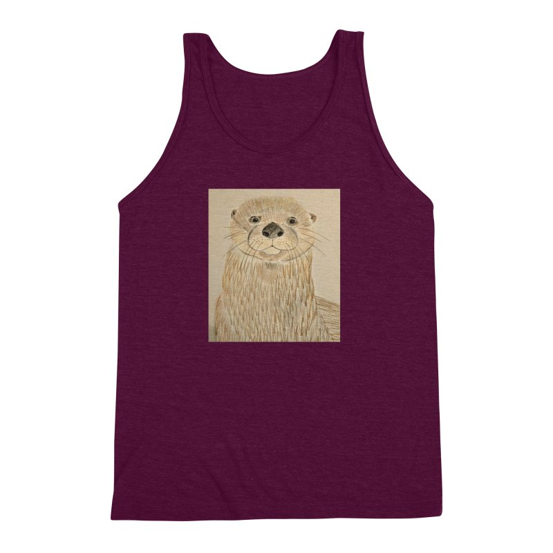 Otter Men's Triblend Tank by Whimsical Wildlife Wares