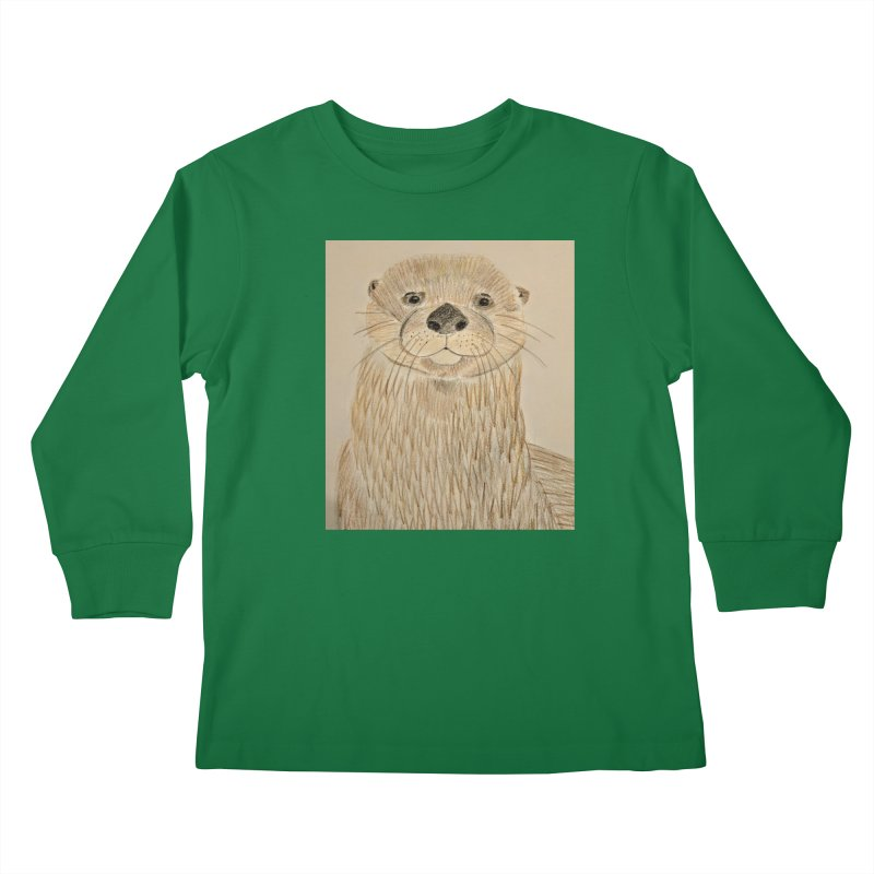 Otter Kids Longsleeve T-Shirt by Whimsical Wildlife Wares