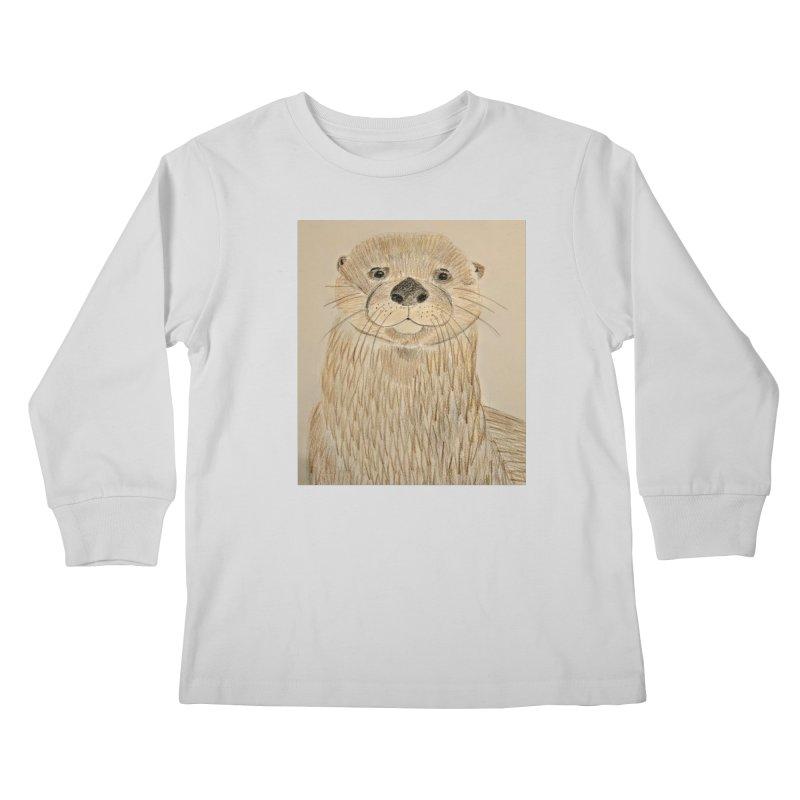 Otter Kids Longsleeve T-Shirt by Whimsical Wildlife Wares