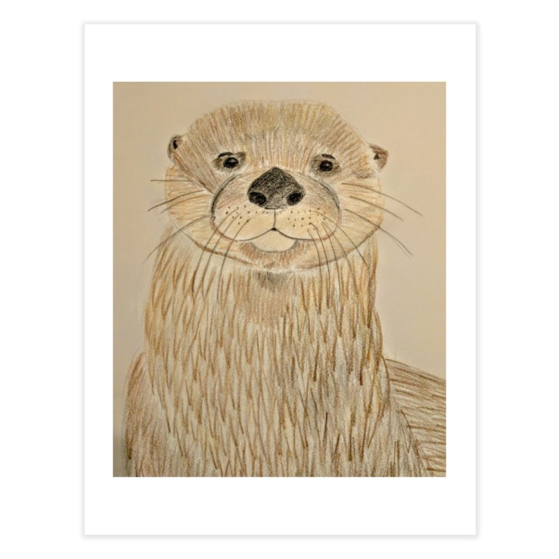 Otter Home Fine Art Print by Whimsical Wildlife Wares