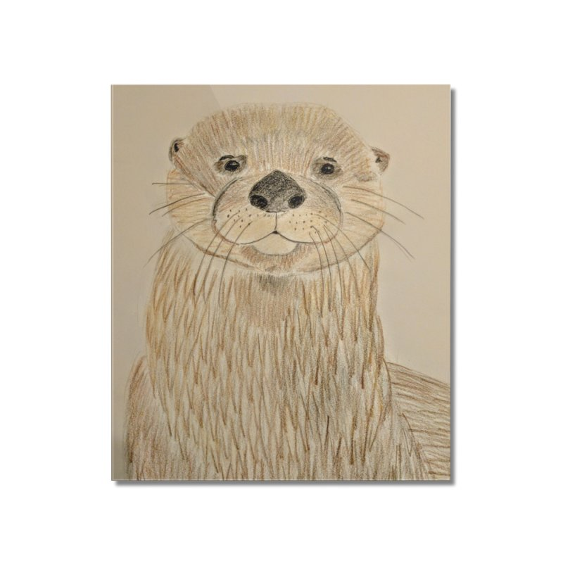 Otter Home Mounted Acrylic Print by Whimsical Wildlife Wares