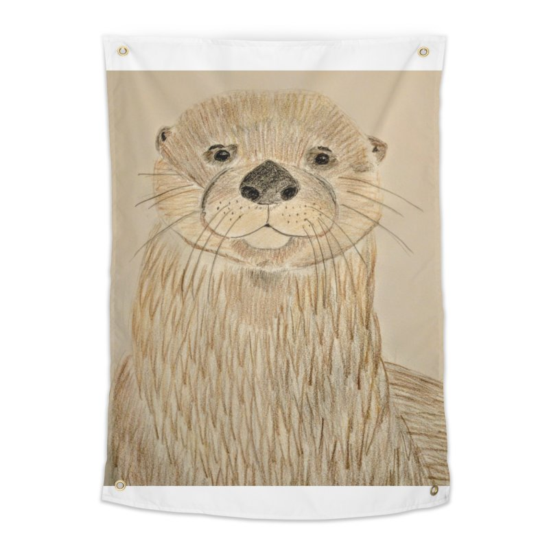 Otter Home Tapestry by Whimsical Wildlife Wares