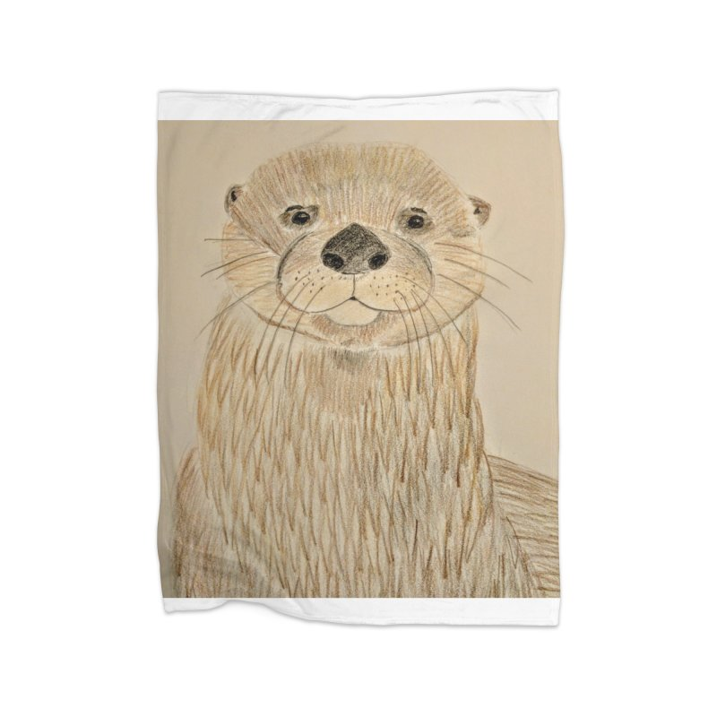Otter Home Blanket by Whimsical Wildlife Wares