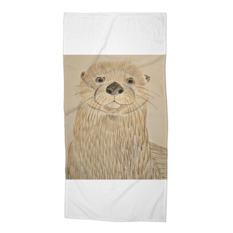 Otter Accessories Beach Towel by Whimsical Wildlife Wares