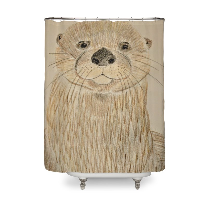 Otter Home Shower Curtain by Whimsical Wildlife Wares