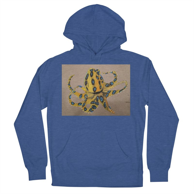 Blue-Ringed Octopus Men's Pullover Hoody by Whimsical Wildlife Wares