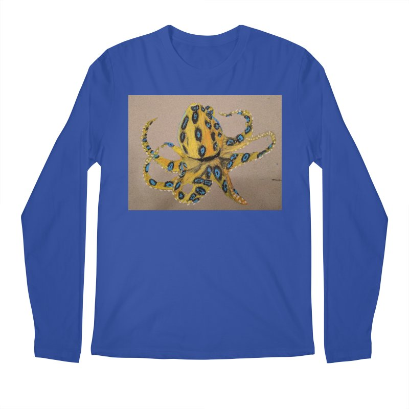 Blue-Ringed Octopus Men's Longsleeve T-Shirt by Whimsical Wildlife Wares