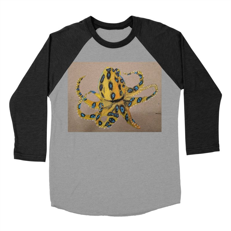Blue-Ringed Octopus Women's Baseball Triblend T-Shirt by Whimsical Wildlife Wares