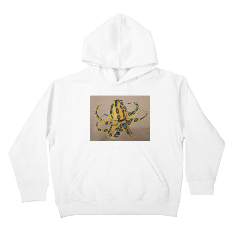 Blue-Ringed Octopus Kids Pullover Hoody by Whimsical Wildlife Wares