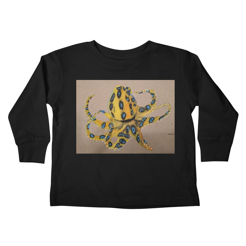 Blue-Ringed Octopus Kids Toddler Longsleeve T-Shirt by Whimsical Wildlife Wares