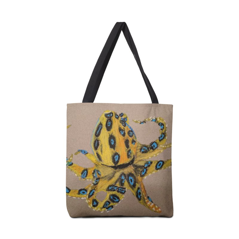 Blue-Ringed Octopus Accessories Bag by Whimsical Wildlife Wares