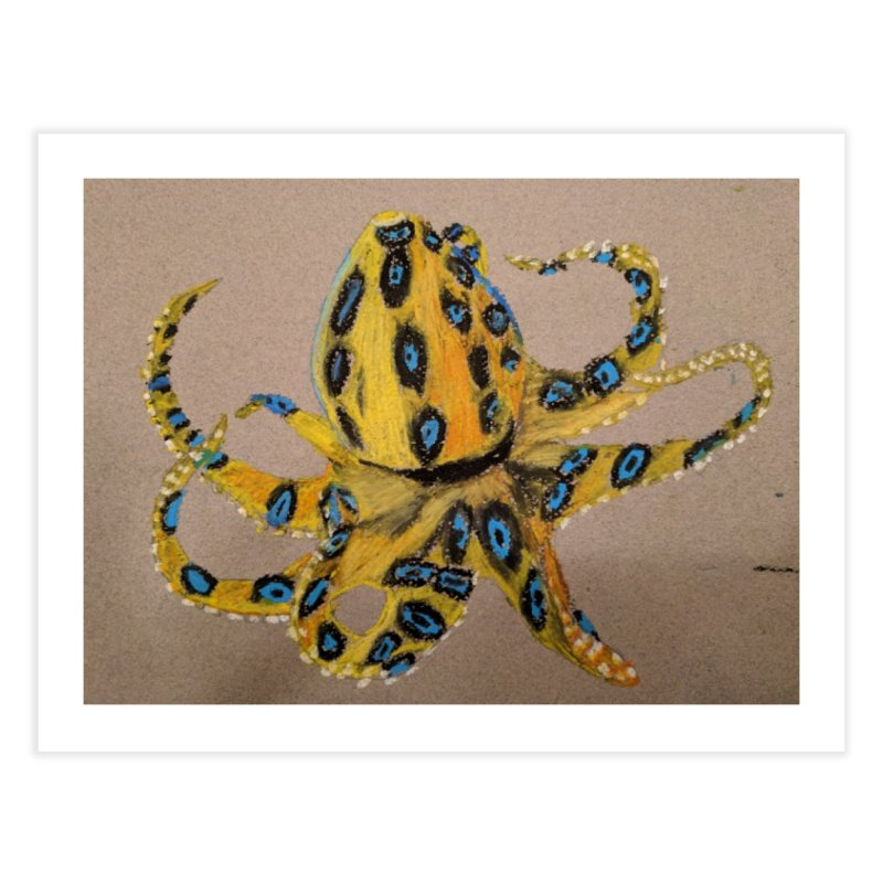 Blue-Ringed Octopus Home Fine Art Print by Whimsical Wildlife Wares