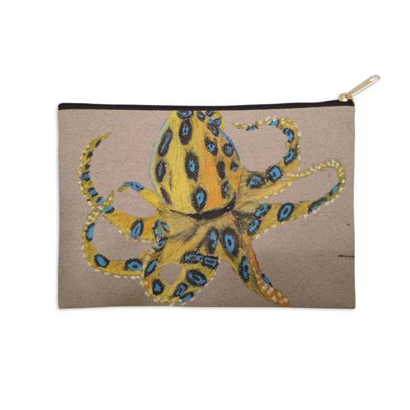 Blue-Ringed Octopus Accessories Zip Pouch by Whimsical Wildlife Wares