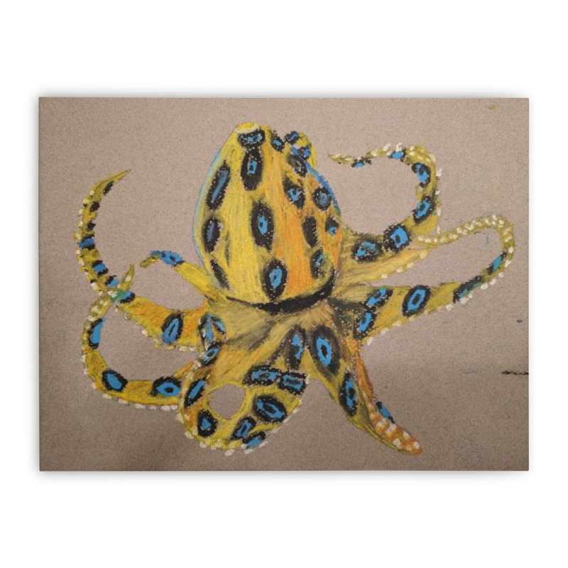 Blue-Ringed Octopus Home Stretched Canvas by Whimsical Wildlife Wares