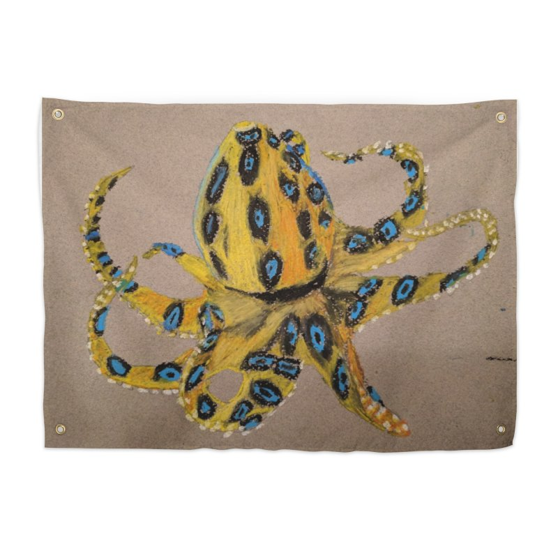 Blue-Ringed Octopus Home Tapestry by Whimsical Wildlife Wares