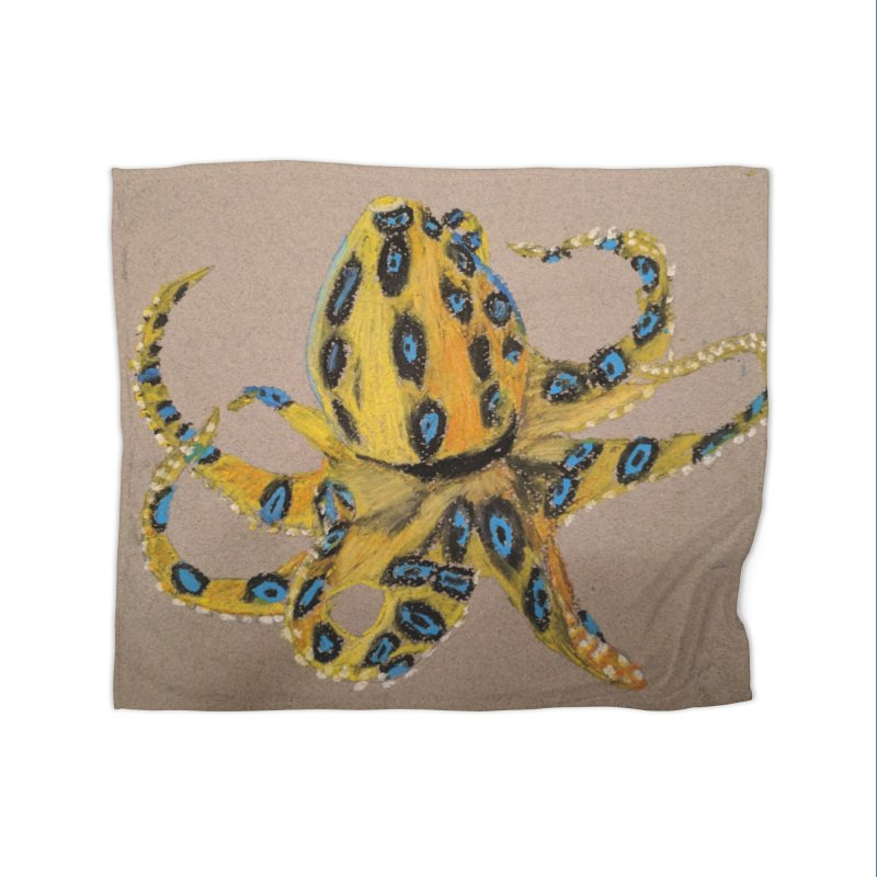 Blue-Ringed Octopus Home Blanket by Whimsical Wildlife Wares