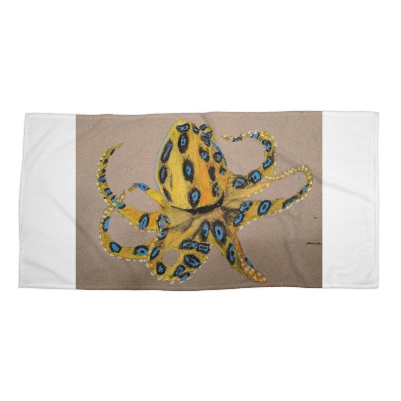 Blue-Ringed Octopus Accessories Beach Towel by Whimsical Wildlife Wares