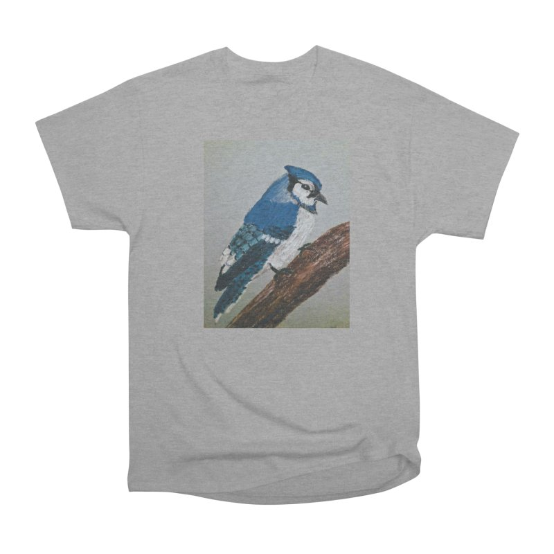Blue Jay Men's Classic T-Shirt by Whimsical Wildlife Wares