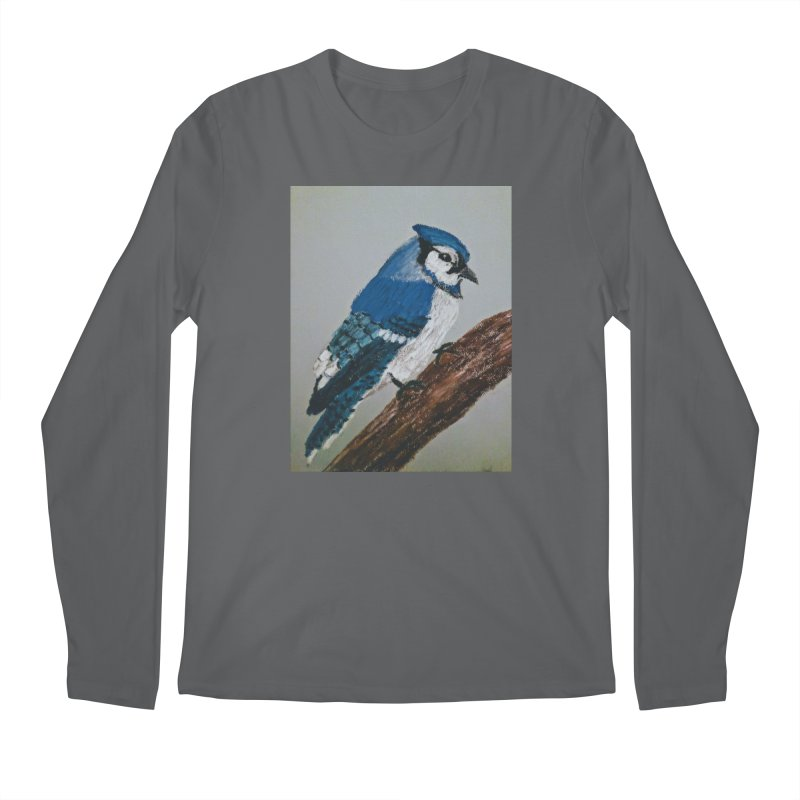 Blue Jay Men's Longsleeve T-Shirt by Whimsical Wildlife Wares