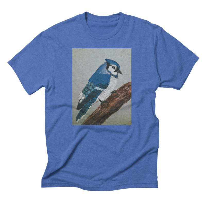 Blue Jay Men's Triblend T-Shirt by Whimsical Wildlife Wares