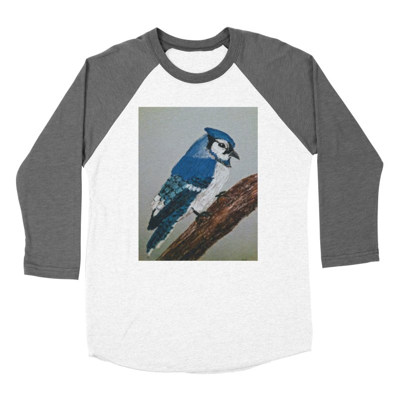 Blue Jay Women's Baseball Triblend T-Shirt by Whimsical Wildlife Wares