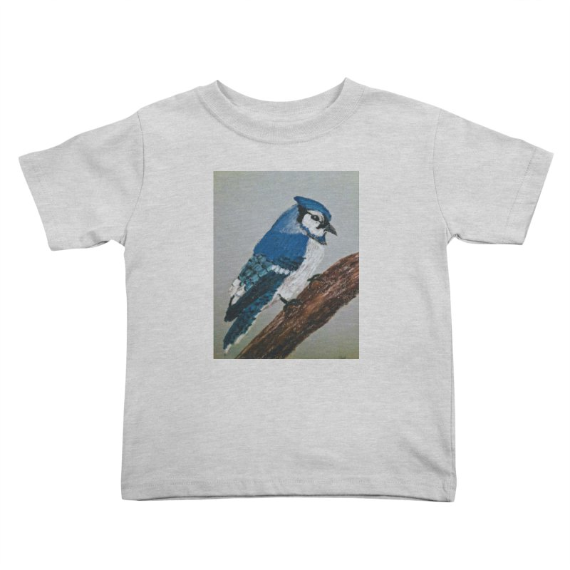 Blue Jay Kids Toddler T-Shirt by Whimsical Wildlife Wares