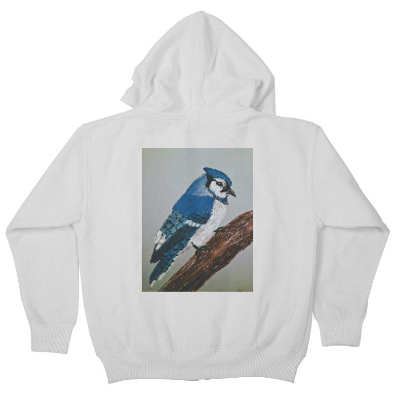 Blue Jay Kids Zip-Up Hoody by Whimsical Wildlife Wares