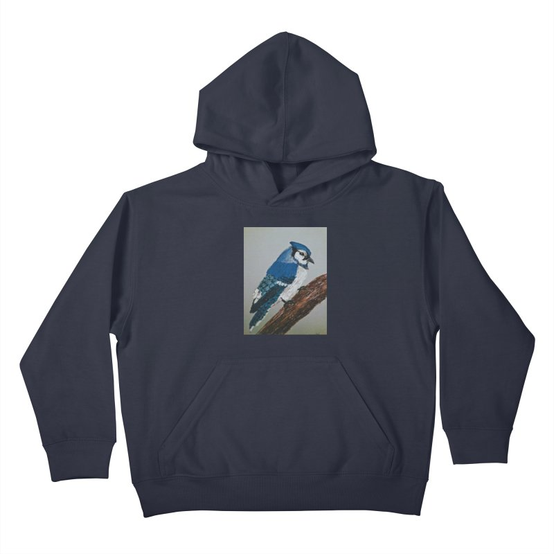 Blue Jay Kids Pullover Hoody by Whimsical Wildlife Wares