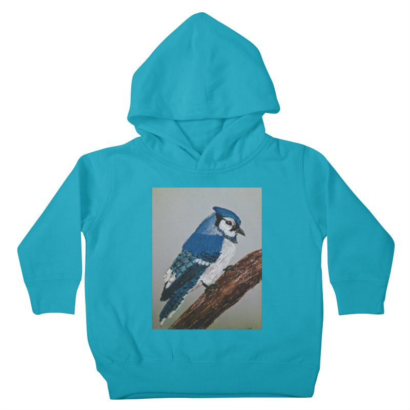 Blue Jay Kids Toddler Pullover Hoody by Whimsical Wildlife Wares