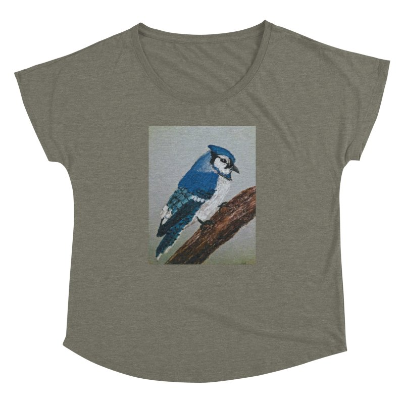 Blue Jay Women's Dolman by Whimsical Wildlife Wares