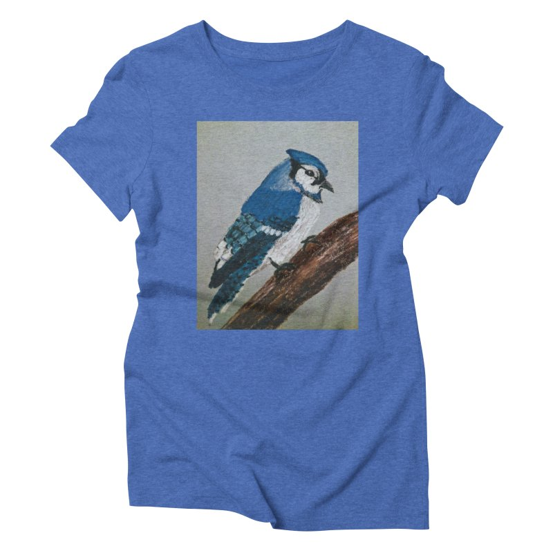 Blue Jay Women's Triblend T-Shirt by Whimsical Wildlife Wares