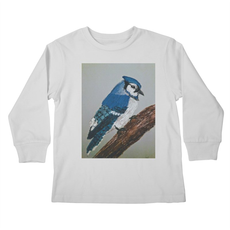 Blue Jay Kids Longsleeve T-Shirt by Whimsical Wildlife Wares