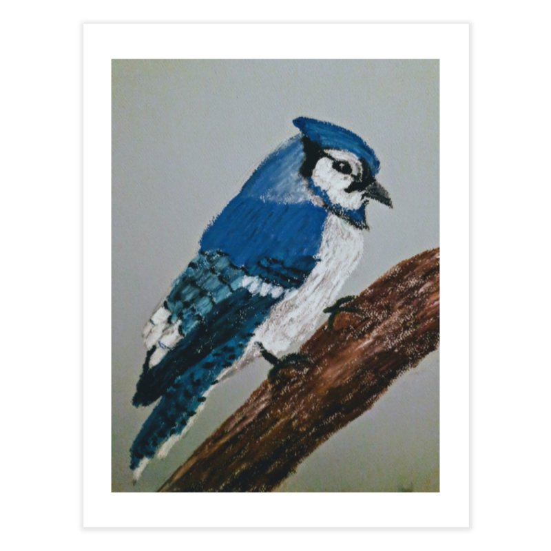 Blue Jay Home Fine Art Print by Whimsical Wildlife Wares
