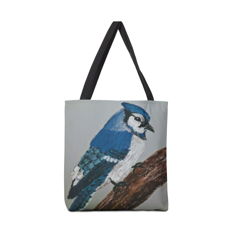 Blue Jay Accessories Bag by Whimsical Wildlife Wares