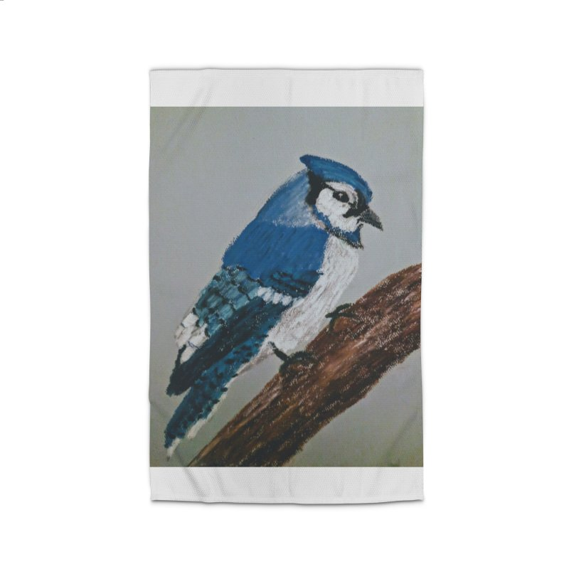 Blue Jay Home Rug by Whimsical Wildlife Wares