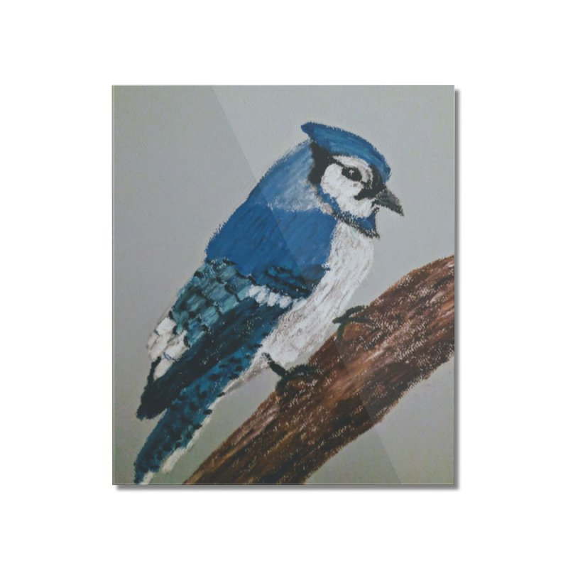 Blue Jay Home Mounted Acrylic Print by Whimsical Wildlife Wares