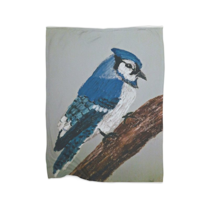 Blue Jay Home Blanket by Whimsical Wildlife Wares