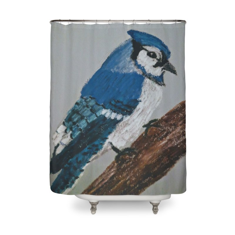 Blue Jay Home Shower Curtain by Whimsical Wildlife Wares